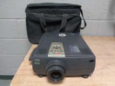 An Epson EMP 7250 projector in carry case