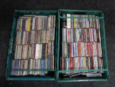 Two crates containing CD's, R & B,