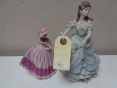 Two Coalport figures - Baue Monde Jill and other other.