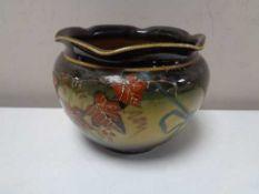 A glazed pottery Ravissant ware planter, diameter 15 cm.