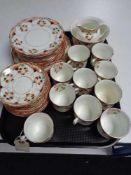 A tray of antique Anchor china tea service