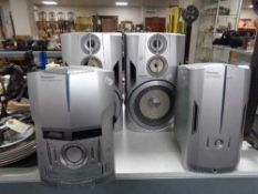 A Pioneer two-piece micro hifi system and further pair of speakers