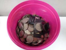A tub of coins and crowns