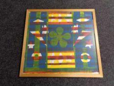 A pine framed print