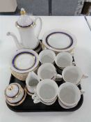 A tray of thirty eight piece Bavarian tea service