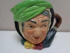 A large Royal Doulton character jug - Sairey Gamp