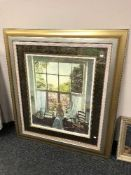 After Ken Howard : Springtime at Oriel, reproduction in colours, numbered 58/175, signed in pencil,