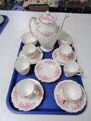 A tray of fifteen piece Aynsley china tea service