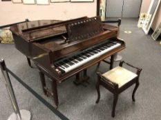 A mahogany cased baby grand piano by John Broadwood and Sons, width 146 cm,