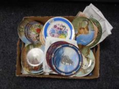 A box of collector's plates,
