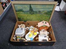 A box of gilt framed 1930's print,