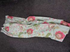 Three pairs of good quality floral and fully lined curtains,
