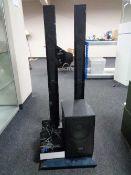 An LG dvd surround sound system,