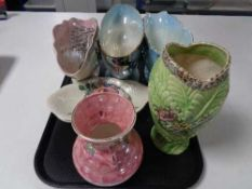 A tray of Arthur Wood Estoria vase,
