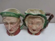 Two large Beswick character jugs - Sairey Gamp 371 and Scrooge 372