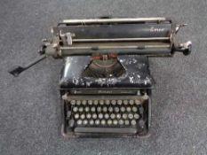A vintage Everest typewriter