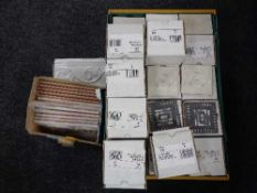 A box of Formato black and white 10 cm x 10 cm wall tiles