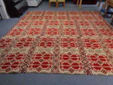 A large Persian carpet 400 cm x 380 cm