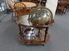 A globe drinks trolley CONDITION REPORT: Good structural condition,