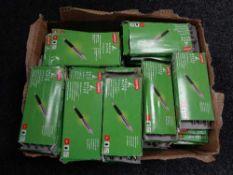 A box of staples Delta elite pens