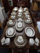 Eighty seven pieces of Royal Doulton Kadenza tea and dinner china