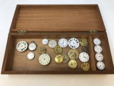 A box containing two pocket watches by Mathey-tissot and Favre-Leuba, together with approx.
