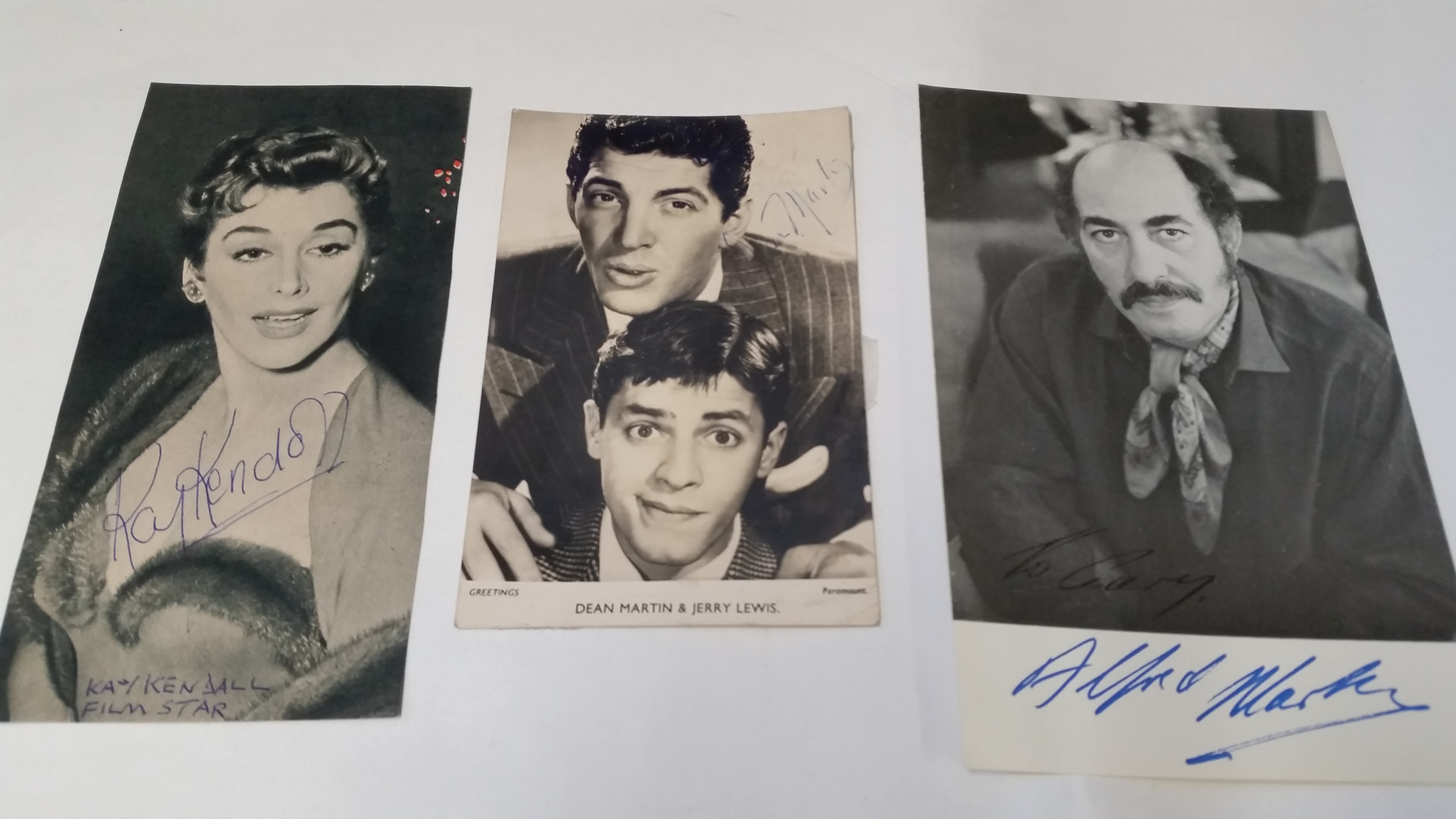 Lot 623 - ENTERTAINMENT, signed photos etc., inc. William Marlow, Alfred Marx, Collette Gleeson, John