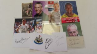 FOOTBALL, signed selection, mainly modern, inc. many white cards, photos, trade cards etc., inc.