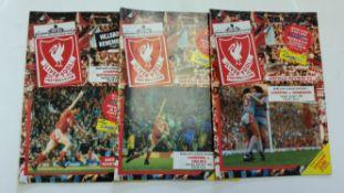 FOOTBALL, Liverpool home programmes, 1989/90 Championship season, missing QPR, VG to EX, 18