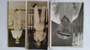 CRICKET, press photos, Australia in England, 1938, showing Bradman on arrival in England,
