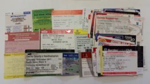 FOOTBALL, Southampton tickets, 1981 onwards, inc. Cup Finals & semis etc., G to EX, 86*