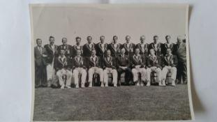 CRICKET, press photos, Australia v England, 1954/5, team photos of NSW (in white) team that played