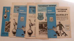 FOOTBALL. Tottenham Hotspur home programmes, 1960s, G to EX, 37*