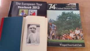 GOLF, selection, inc. hardback edition of The European Tour Yearbook 2013, signed to inside pages by