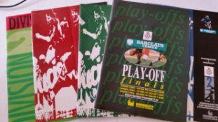 FOOTBALL, selection, inc. European championship, programmes (2) and team sheets (1980, 1984, 1988,