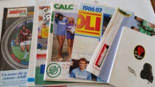 FOOTBALL, Italian selection, inc. magazines and newspapers, Liverpool v Juventus E.C. final 1985,