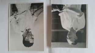 CRICKET, press photos, England v Australia 1948, showing Miller batting in practise laid down to