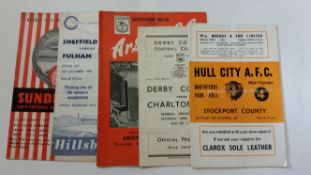FOOTBALL, programmes, 1950s selection, inc. Chelsea, Cardiff, QPR, Arsenal, Sheffield United, Derby,