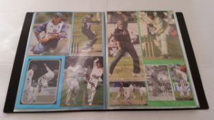 CRICKET, signed selection, inc pages removed from magazines, trade cards, newspaper cuttings, The
