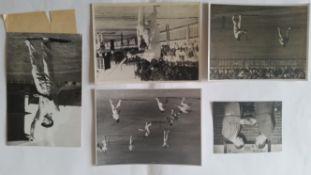 CRICKET, press photos, England (MCC) in Australia 1946/7, showing Bradman batting in nets at