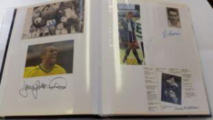 FOOTBALL, Cardiff City signed selection, inc. magazine photos, team photos, white cards etc., mainly