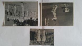 CRICKET, press photos, Australians, 1938-39 Bradman leading out South Australia, 1945 Saggers
