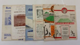 FOOTBALL, Sunderland, home (5) and away programmes, 1954/5, tape repairs to spine (2), creases,