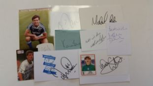 FOOTBALL, Birmingham City, signed selection, inc. white cards, photos, pieces (laid down to cards)