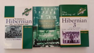 FOOTBALL, Hibernians books, The Making of Hibernian Vols 1-3, hardback with dj (2), first issue in