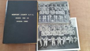 FOOTBALL, Newport County selection, inc. 1982/3 home programmes, 32 issues in bound volume, v