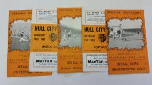FOOTBALL, Hull City home programmes, inc. 1950/1 (11), 1951/2 (12), 1952/3 (10), 1953/4 (9), 1954/