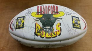 RUGBY LEAGUE, signed Steedem club ball by 2004 Bradford Bulls, by full squad, EX