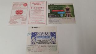 FOOTBALL, Manchester United selection, inc. fixture booklet for 1998/1999 Treble season; tickets for