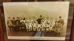 FOOTBALL, team photo, Clapton Orient 1923/4, names to lower white border, photo by Ludford, 11 x